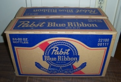 pabst blue ribbon beer case