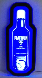 platinum vodka 7x led sign