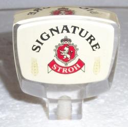 stroh signature beer tap handle