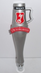 becks oktoberfest beer tap handle