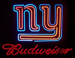budweiser beer nfl giants neon sign