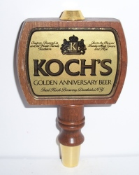 kochs golden anniversary beer tap handle