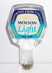 molson light beer tap handle
