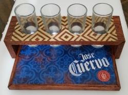 jose cuervo tequila shot tray