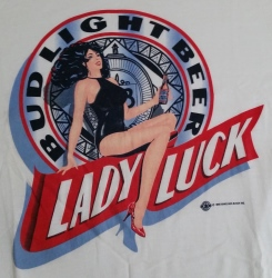 Bud Light Beer Lady Luck T-Shirt neon beer signs for sale Home budlightladylucktshirt