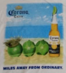 Corona Extra Beer T-Shirt corona extra beer t-shirt Corona Extra Beer T-Shirt coronaextramilesawaytshirtrear