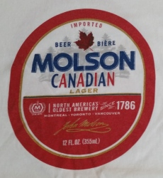 Molson Canadian Lager T-Shirt neon beer signs for sale Home molsoncanadianlagertshirtfront