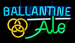 Ballantine Ale Neon Sign  MY BEER SIGN COLLECTION – Not for sale but can be bought… ballantineale4color