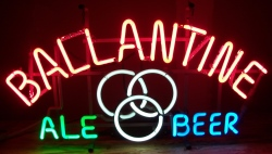 Ballantine Ale Beer Neon Sign  MY BEER SIGN COLLECTION – Not for sale but can be bought… ballantinealebeer