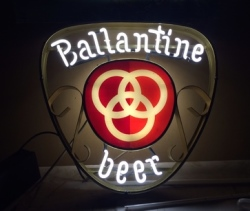 Ballantine Beer Neon Sign  MY BEER SIGN COLLECTION – Not for sale but can be bought… ballantinebeergoldframe