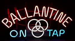 Ballantine Beer On Tap Neon Sign  MY BEER SIGN COLLECTION – Not for sale but can be bought… ballantineontap