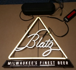 Blatz Beer Neon Sign  MY BEER SIGN COLLECTION – Not for sale but can be bought… blatztrianglemilwaukeesfinestbeer1961