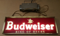 Budweiser Beer Neon Sign [object object] MY BEER SIGN COLLECTION – Not for sale but can be bought… budweiserkingofbeer1968