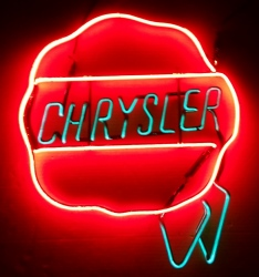 Chrysler Dealer Neon Sign  MY BEER SIGN COLLECTION – Not for sale but can be bought… chryslerdealer