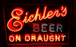 Eichlers Beer On Draught Neon Sign  MY BEER SIGN COLLECTION – Not for sale but can be bought… eichlersbeerondraught