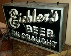 Eichlers Beer On Draught Neon Sign  MY BEER SIGN COLLECTION – Not for sale but can be bought… eichlersbeerondraughtoff