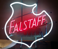 Falstaff Beer Neon Sign  MY BEER SIGN COLLECTION – Not for sale but can be bought… falstaffbeerwhiteshield