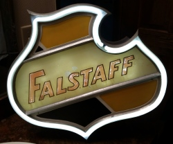 MY BEER SIGN COLLECTION – Not for sale but can be bought… falstaffcountertop