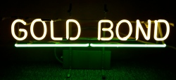 Gold Bond Beer Neon Sign  MY BEER SIGN COLLECTION – Not for sale but can be bought… goldbond