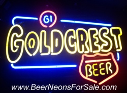 Goldcrest Beer Neon Sign  MY BEER SIGN COLLECTION – Not for sale but can be bought… goldcrest
