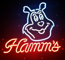 Hamms Beer Bear Neon Sign  MY BEER SIGN COLLECTION – Not for sale but can be bought… hammsbearearlynotrans