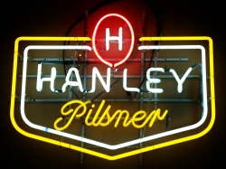 Hanley Pilsner Neon Sign  MY BEER SIGN COLLECTION – Not for sale but can be bought… hanleypilsner