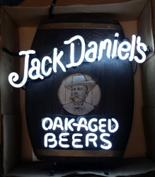 Jack Daniels Beer Neon Sign  MY BEER SIGN COLLECTION – Not for sale but can be bought… jackdanielsoakagedbeers
