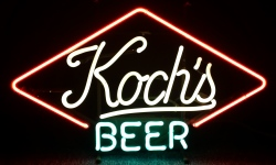 Kochs Beer Neon Sign beer sign collection My Beer Sign Collection 2 – Not for sale but can be bought… kochsbeer