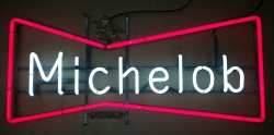 Michelob Beer Bowtie Neon Sign beer sign collection My Beer Sign Collection 2 – Not for sale but can be bought… michelobbowtielarge