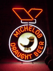 Michelob Draught Horn Neon Sign beer sign collection My Beer Sign Collection 2 – Not for sale but can be bought… michelobdraughtbeerhorn