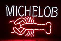 Michelob Beer Lobster Neon Sign beer sign collection My Beer Sign Collection 2 – Not for sale but can be bought… micheloblobster