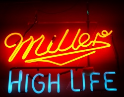Miller High Life Beer Neon Sign neon beer signs for sale Home millerhighlifehangerforsale