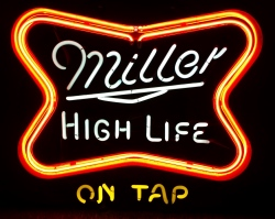 Miller High Life Beer Neon Sign neon beer signs for sale Home millerhighlifesoftcrossontap1986