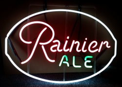 Rainier Ale Neon Sign beer sign collection MY BEER SIGN COLLECTION 2 – Not for sale but can be bought… rainierale