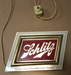 Schlitz Beer Lighted Sign beer sign collection My Beer Sign Collection 2 – Not for sale but can be bought… schlitzlight1951 1