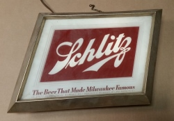 Schlitz Beer Lighted Sign beer sign collection MY BEER SIGN COLLECTION 2 – Not for sale but can be bought… schlitzlight1951