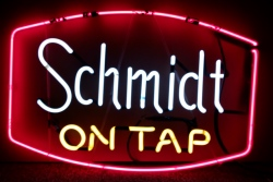 Schmidt Beer On Tap Neon Sign beer sign collection MY BEER SIGN COLLECTION 2 – Not for sale but can be bought… schmidtontap
