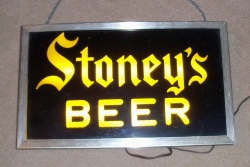 Stoneys Beer Light beer sign collection My Beer Sign Collection 2 – Not for sale but can be bought… stoneysbeeryellowlight