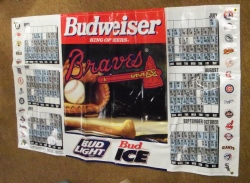 Budweiser Beer MLB Atlanta Braves Banner