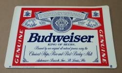 Budweiser Beer Place Mat