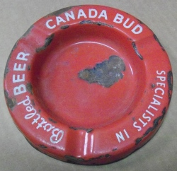 Canada Bud Beer Ashtray
