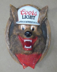 Coors Light Beer Wolf Sign  MY BEER SIGN COLLECTION – Not for sale but can be bought… coorslightbeerwolfsign