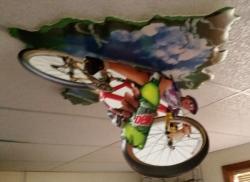 Mountain Dew Ceiling Sign