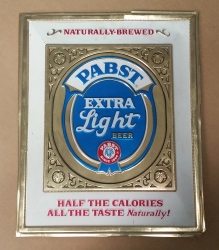 Pabst Extra Light Beer Sign