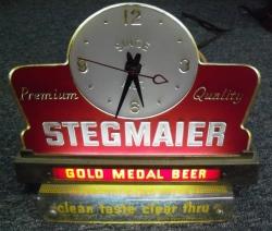 Stegmaier Beer Register Lighted Clock beer sign collection MY BEER SIGN COLLECTION 2 – Not for sale but can be bought… stegmaiergoldmedalbeerlightedclock