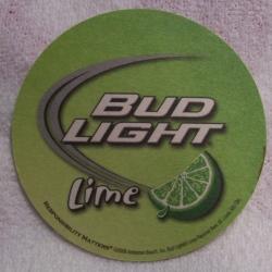 bud light lime beer coaster Bud Light Lime Beer Coaster budlightlimecoaster2008rear