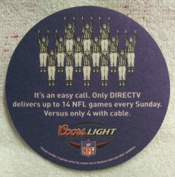 Coors Light Beer NFL Coaster