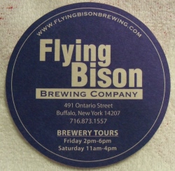 flying bison beer coaster Flying Bison Beer Coaster flyingbisoncoasterrear