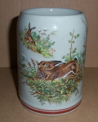 German Rabbit Beer Stein