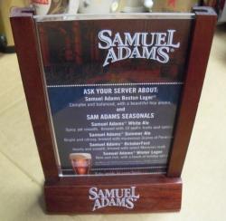 Samuel Adams Beer Table Tent